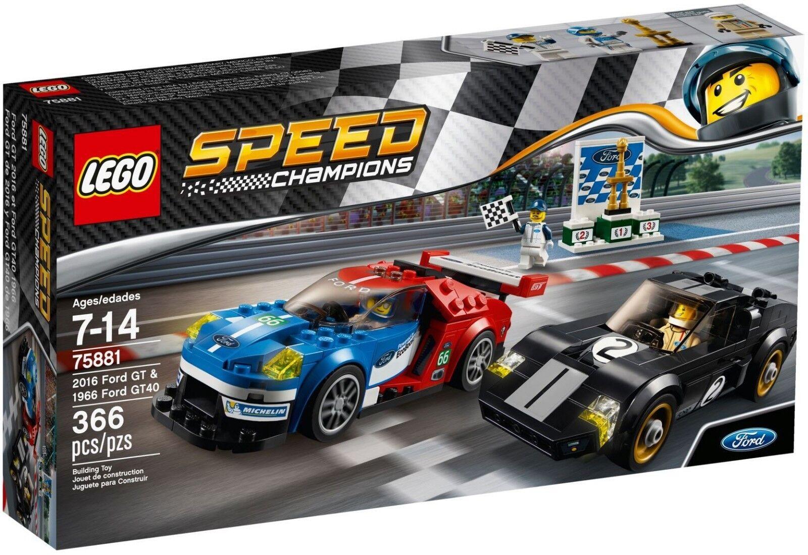 Lego 75881 Speed Champions 2016  FORD GT & 1966 FORD GT40  nouveaux produits nouveautés