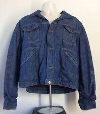 Vtg 50s Wrangler Blue Bell Sanforized Denim Jacket 44 Blue Jean Quilted Lining