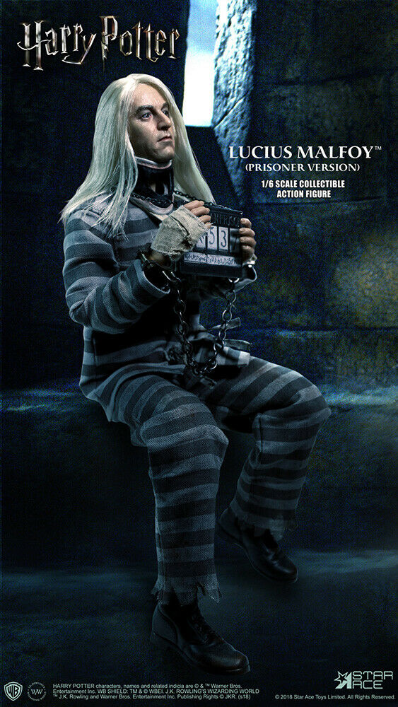 Harry Potter 12' Lucius Malfoy Prisoner Version 1 6 Scale Action Figure STAR ACE