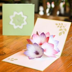 Image Is Loading 3D Pop Up Card Flower Greeting Cards Handmade