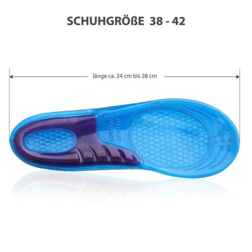 Les semelles intérieures Gel Sport Talons Sporn orthopédiques Chaussure dépôt taille 33 à 47
