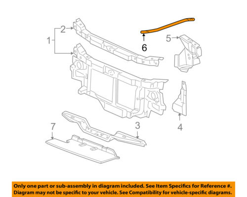 GM OEM Radiator Core Support-Diagonal Brace 25732086