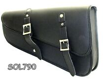 Motorcycle Synthetic leather two strap swing arm bag with quick release buckles