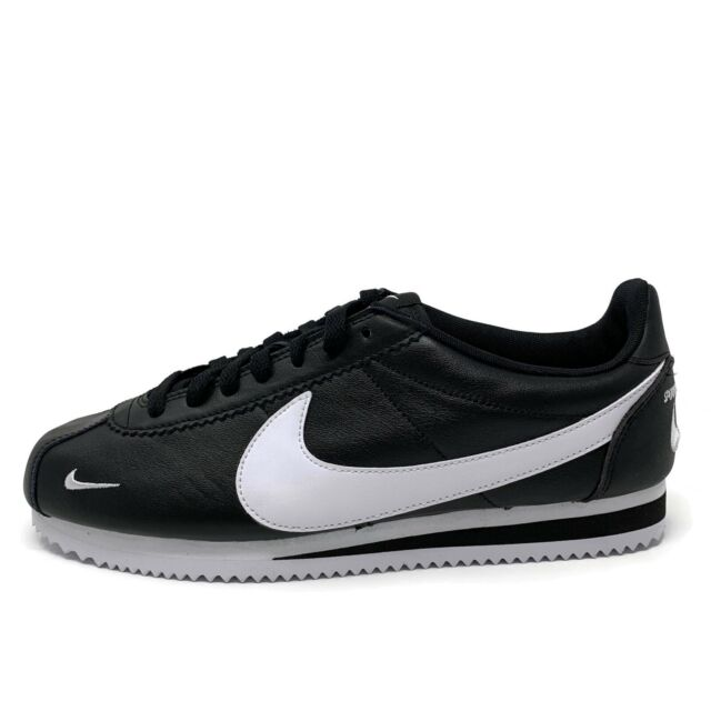 sports shoes 07aed 34958 NIKE CLASSIC CORTEZ PREMIUM MINI SWOOSH SNEAKERS BLACK 807480-004 MEN'S  SIZE 9.5