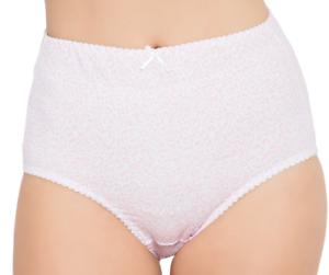 2 Set Cotton Full Brief Plus 22 24 26 Light Cotton Lace Trim Black White Beige