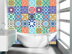 Pack Of 16 Tile Stickers Wall Kitchen, Tile Decals For Bathroom