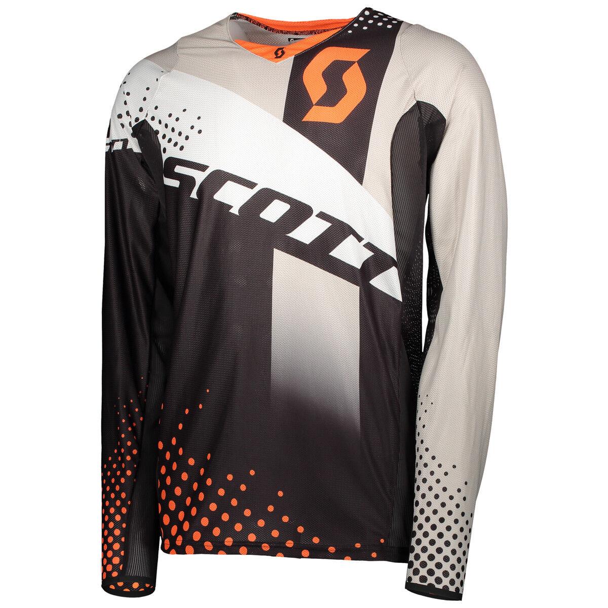 Scott 450 Angled MX Motocross Jersey / / / DH Fahrrad Trikot schwarz/Orange 2018 1b9e0f