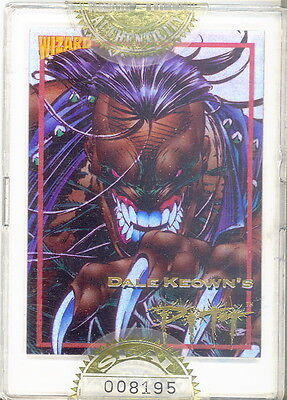 WIZARD MAGAZINE SERIES 2 1993 FACTORY SEALED GOLD PROMO CARD 1 DALE KEOWN PITT