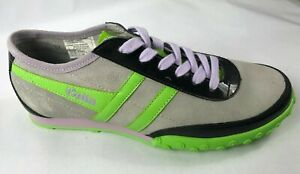 ***NEW*** Gola Women`s  Size 6 U.S.Suede Color Gray/Lime/Black