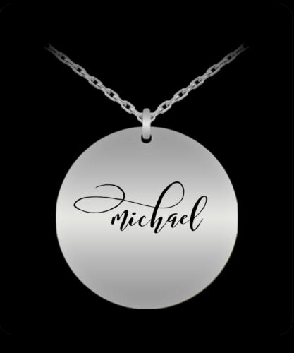 Name Necklace Gold plated Plated//S Michael Pendant Personalized Charm Gift