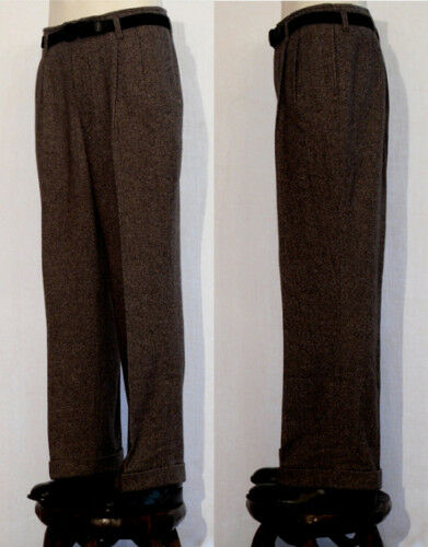 PANTALON VINTAGE LINDY HOP RETRO MEN  trouser ANNEES 40 lainage choco T50
