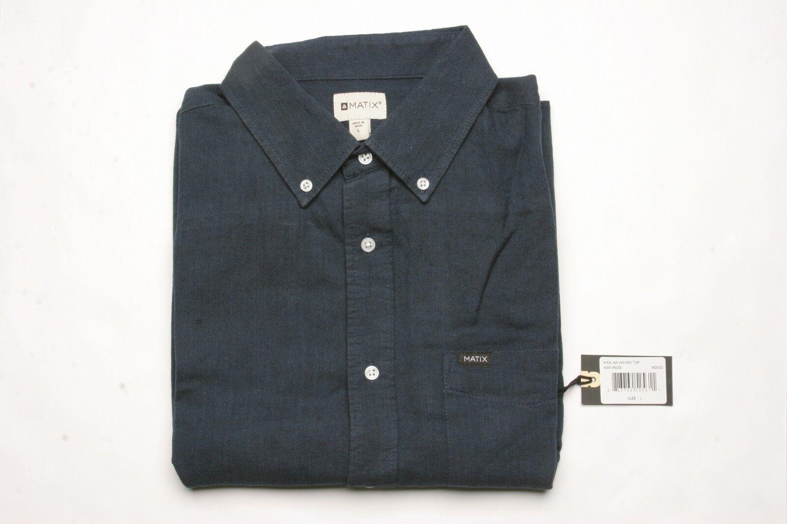 MATIX Marlan Woven Shirt (L) Indigo