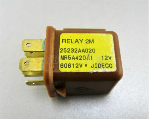 6-Pin Brown Relay 2M 25232AA020 MR5A420A1 12V 60612V JIDECO 631 Subaru 98-14