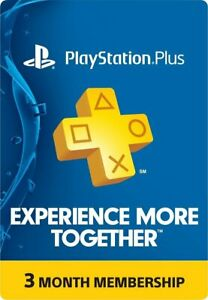 Sony PlayStation Plus: 3-Month Subscription Membership