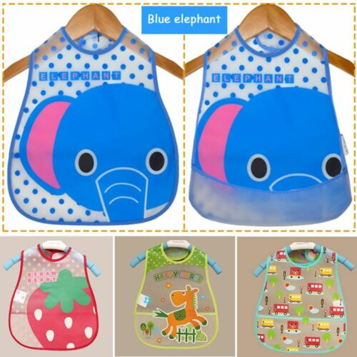 Cartoon Infants Kid Turn Bib Translucent Pattern Waterproof Baby Towel Bibs