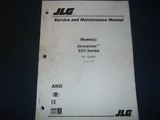 Jlg Axxcessor Ssv Series Mast Lift Forklift Service Maintenance Repair Manual