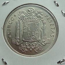 manueduc  ESPAÑA  5 Pesetas  1949 *49 FRANCO   NUEVA  UNC