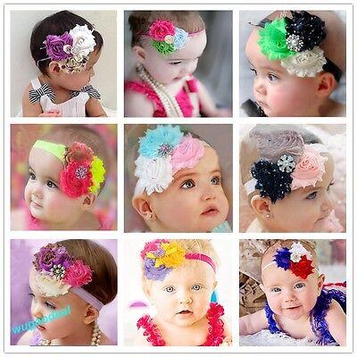 Pretty Baby Hairband Girl Cute Chiffon Flower Headband  Christmas Gift 28 Styles