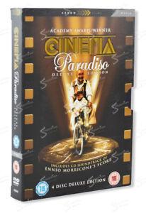 NUOVO CINEMA PARADISO DELUXE EDITION GIUSEPPE TORNATORE UK 3 DVD + CD MORRICONE