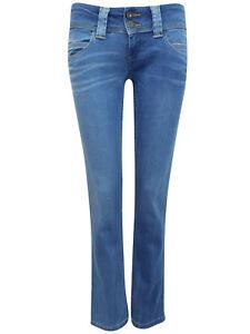 718c1b555d2 Women's Pepe Jeans Venus Low Waist Stretch Straight Leg Mid Blue ...