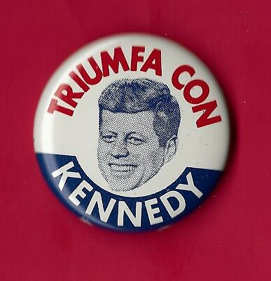 Vintage 1960 John Kennedy Presidential Campaign Button Ships Free