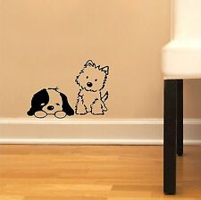 "Cute Puppy Dog Skirting Board Wall Art Sticker Vinyl Decal "" 11cm x 20cm.."
