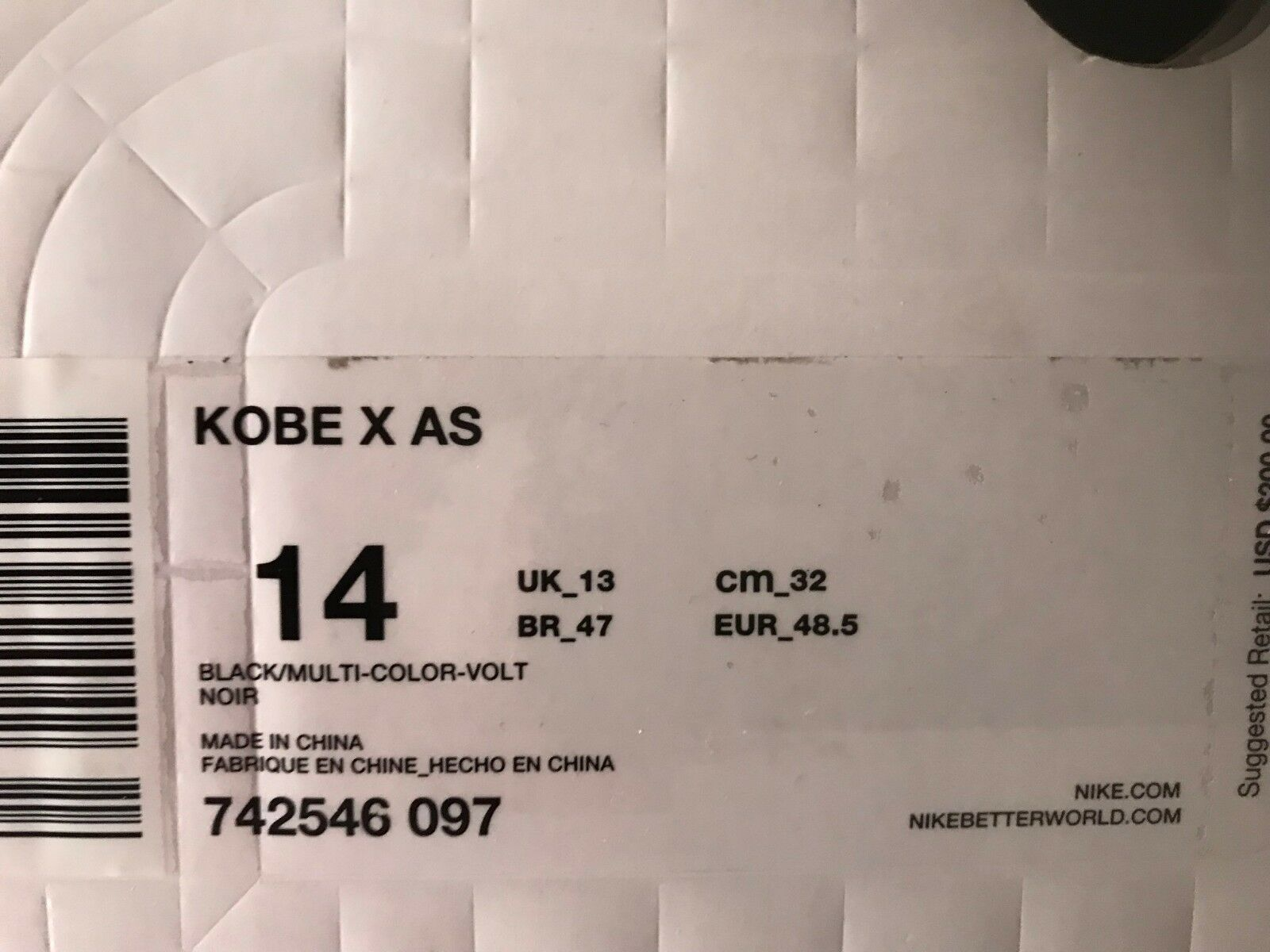 kobe x all-star size 14 worn once The latest discount shoes for men and women