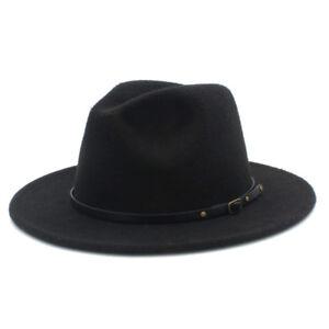 New-Men-Women-Wool-Fedora-Panama-Hat-Winter-Wide-Brim-Felt-Church-Jazz-Cap