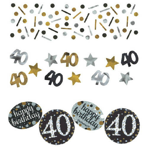 NAUGHTY 40 40TH BIRTHDAY CONFETTI TABLE DECORATION PARTY SPRINKLES 14g