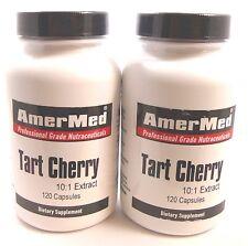 2X Tart Cherry Extract 10:1 550 Mg 240 Capsules Arthritis Gout Joint Pain Sleep
