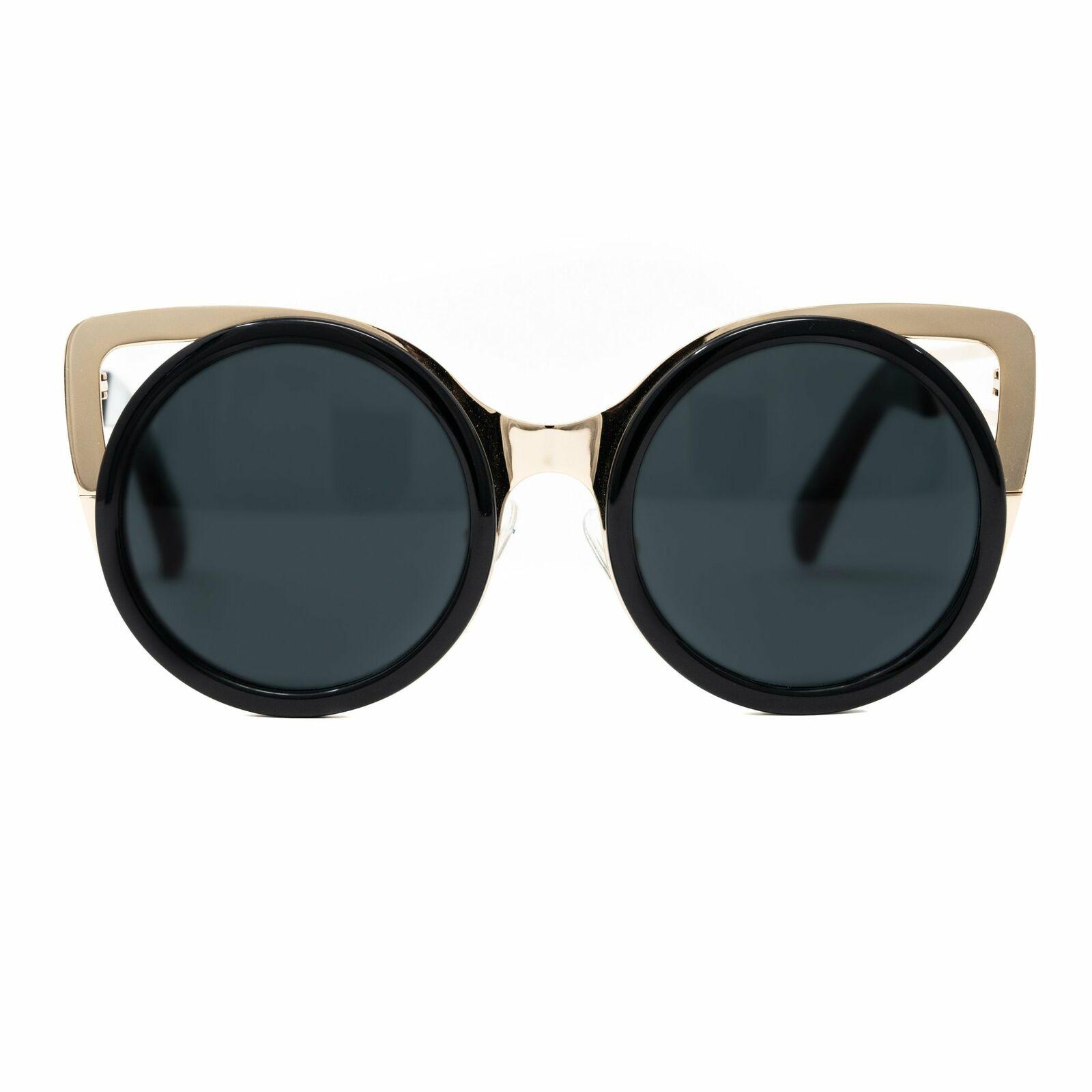 Erdem Sunglasses Cat Eye Light Gold and Black