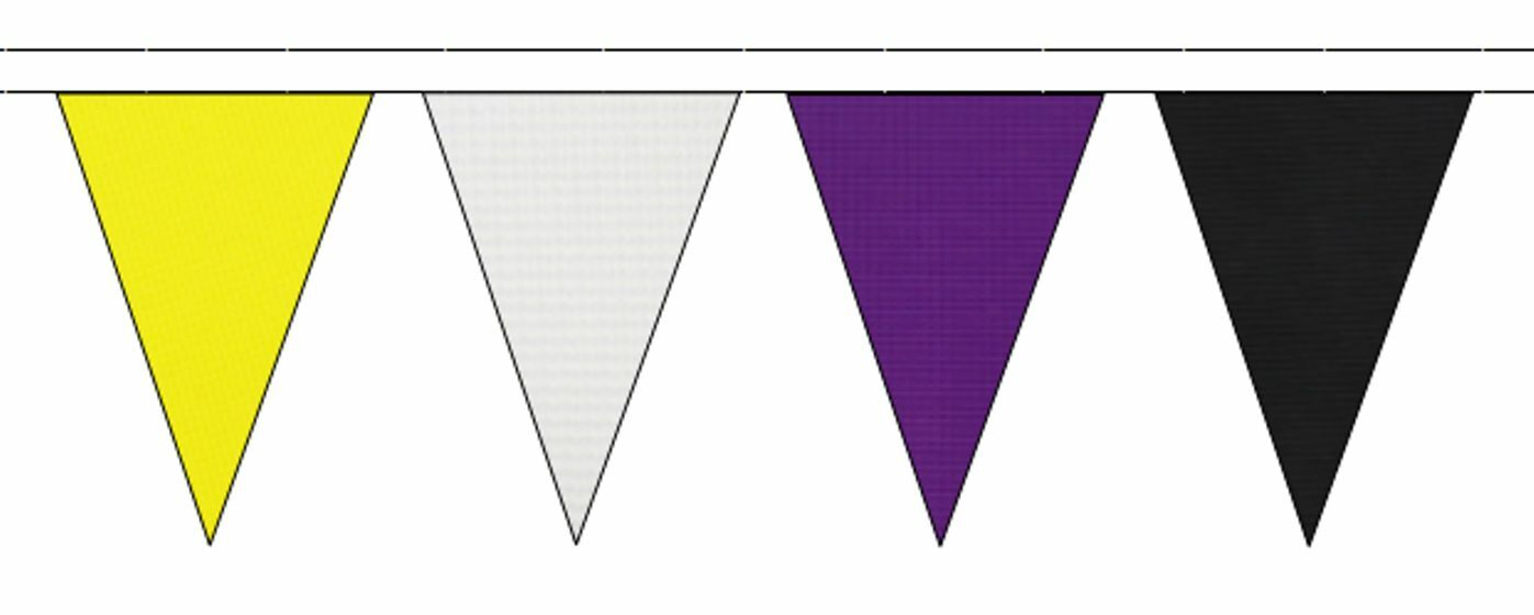 Non-Binary Pride Flag Colours Triangular Flag Bunting - 50m with 120 Flags