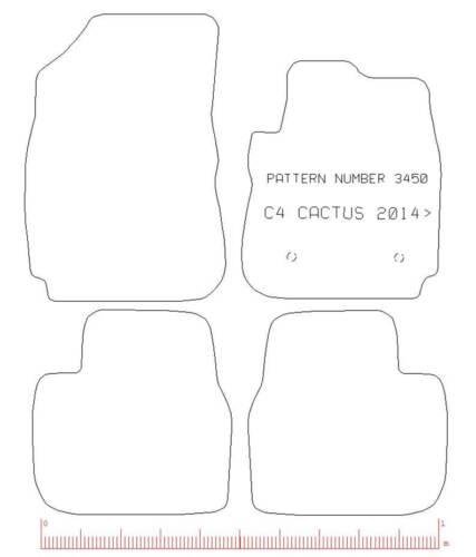 CITROEN C4 CACTUS TAILORED RUBBER CAR MATS WITH YELLOW TRIM 3450 2014 ONWARDS