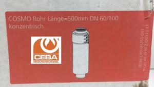 Konzentrisch DN60//100 Artikel-Nr. Atec Abgas 500 mm Rohr 0518