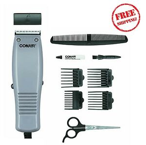 hair clipper 10 pc haircut kit trimmer set barber beard. Black Bedroom Furniture Sets. Home Design Ideas