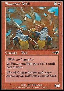 4x Flowstone Wall MTG Nemesis NM Magic Regular