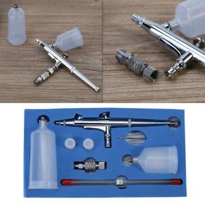 Kit-Aerographe-Pistolet-Gravite-Double-Action-Airbrush-Pour-Peinture-Ongles