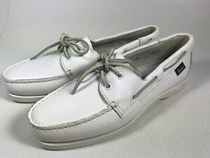 men's bass casual shoes size 95 white leather boat0906