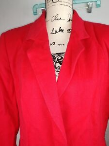 Harve-Benard-red-Coat-Jacket-Womens-Size-12-WOOL-amp-CASHMERE-NWT-178-MSRP