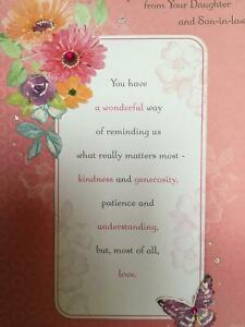 Mum From Your Daughter /& Son In Law On Mothers Day Card Greeting Card