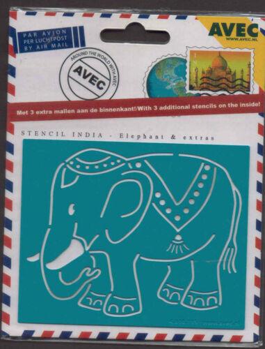 4.610.115 Gaufrer Gaufrer Set Inde avec Stencil ELEPHANT METAL