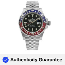 Rolex GMT-Master II Pepsi Ceramic Steel Automatic Mens Black Watch 126710BLRO
