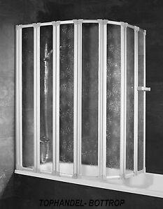 Schulte-Badewannenaufsatz-Badewannen-Faltwand-D1317-Kunststoffglas-Softline-Hell