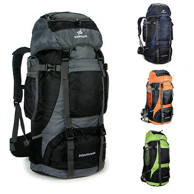60L Outdoor Sport Waterproof Travel Hiking Camping Backpack Rucksack Bag men