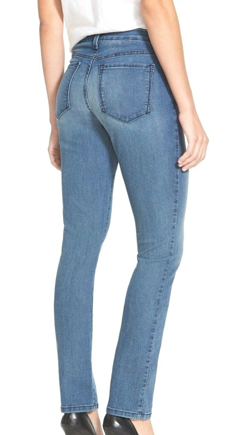 NEW NYDJ Not Your Daughters Jeans Samantha SLIM Karval medium wash sz 10P