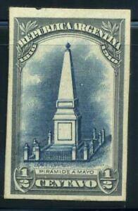 Argentinien-1910-Mi-137-Postfrisch-100-Farbe-Druckprobe-1-2-Pyramide
