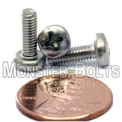 Screws DIN 7985 A Qty 10 Stainless Steel Phillips Pan Head Mach M3.5 x 10mm