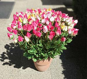 Rosen-Kunstblumen-Textilblumen-Dekoblumen-kuenstliche-Blumen-160-Stueck