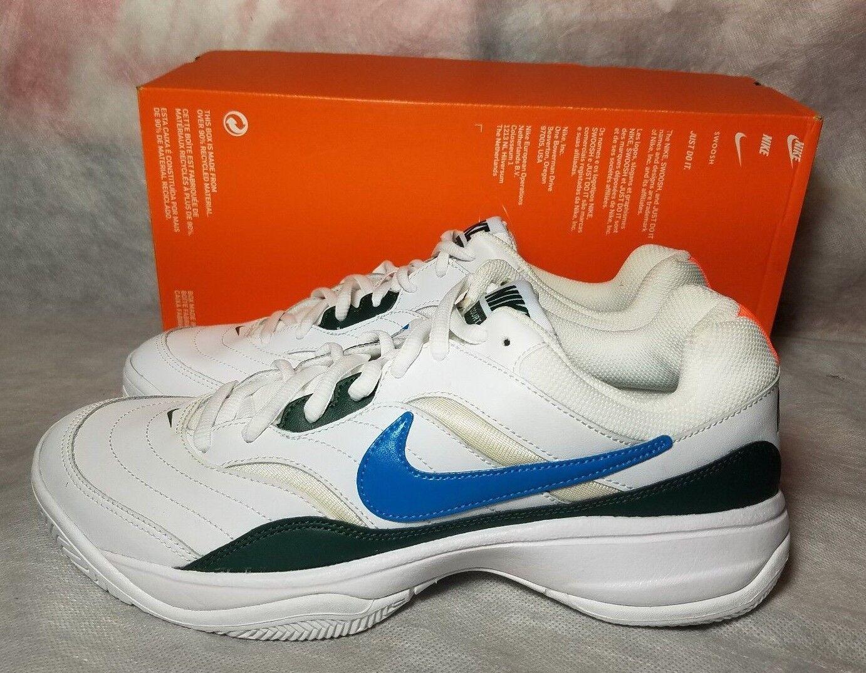 Nuove nike corte cuoio light tennis uomini 10 cuoio corte gatorade verde - arancione blu campione scarpa 54fc42