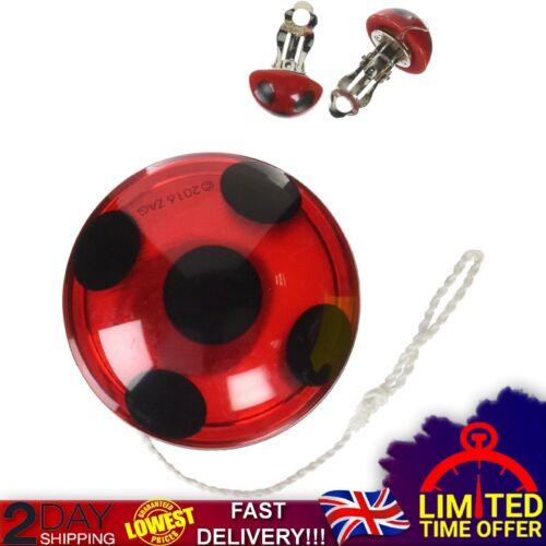 Miraculous Ladybug Yo-Yo ClipOn Earrings Rubie/'s Accessory Kit Jewellery Playset